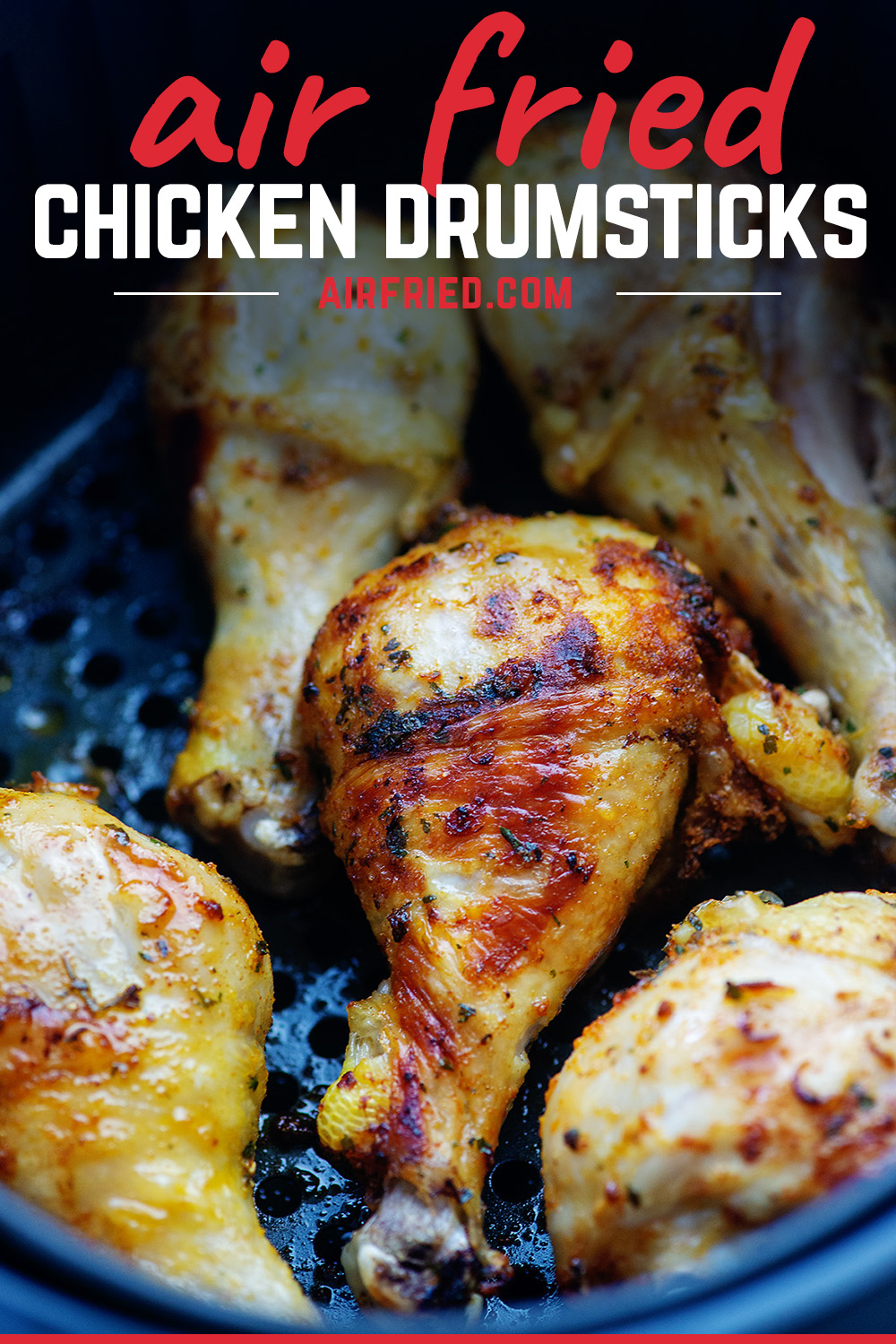 We loved these tasty air-fried drumsticks! #chicken #airfried #recipe