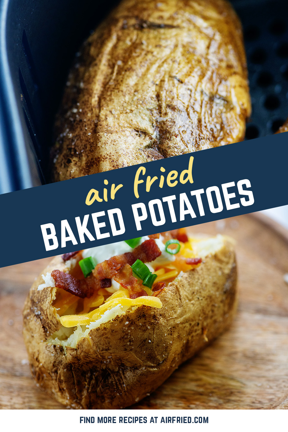 These super simple baked potatoes are so good! #airfried #potatoes #recipe