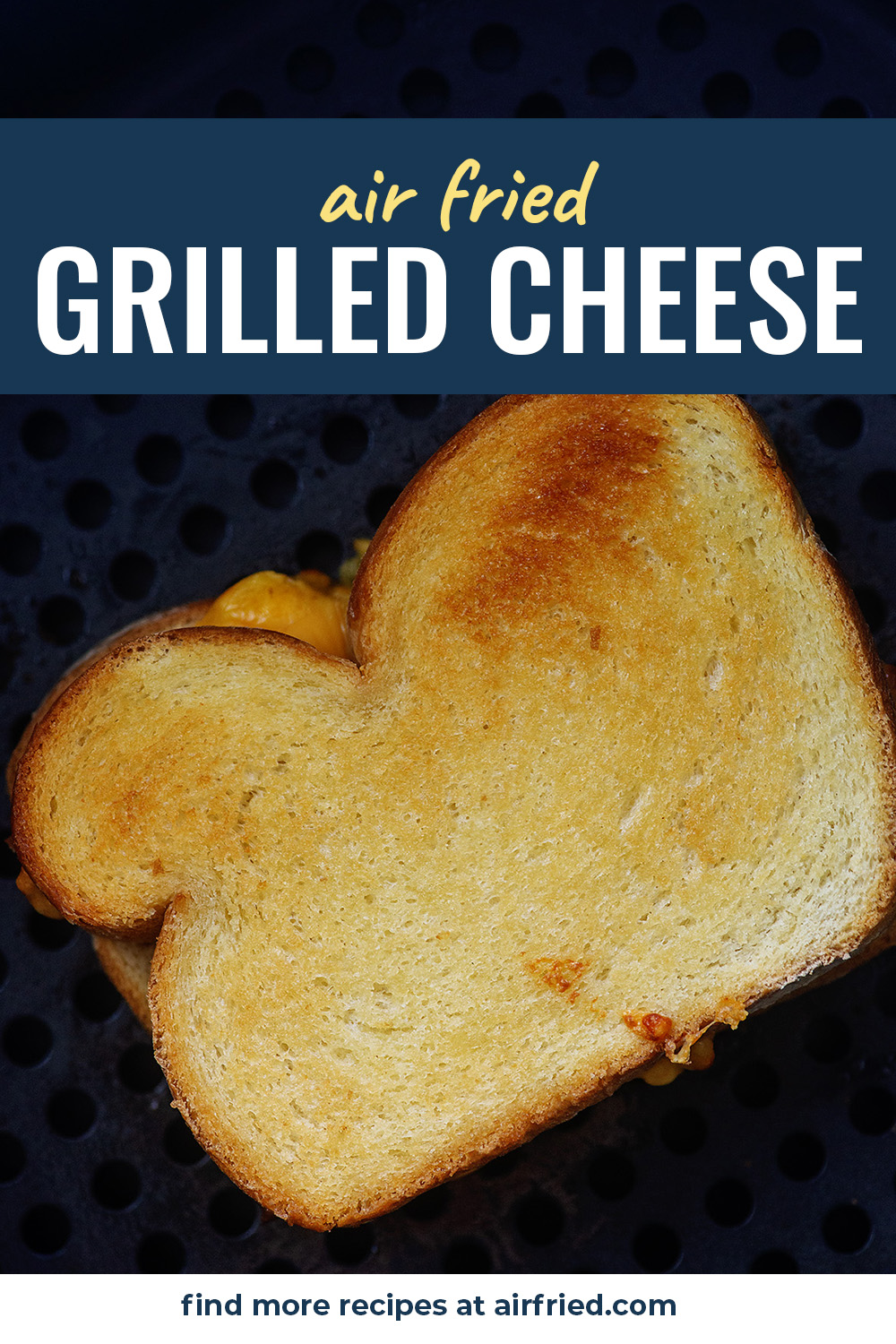 Air Fried Grilled Cheese! Crispy on the outside and gooey inside! #airfryer #recipe