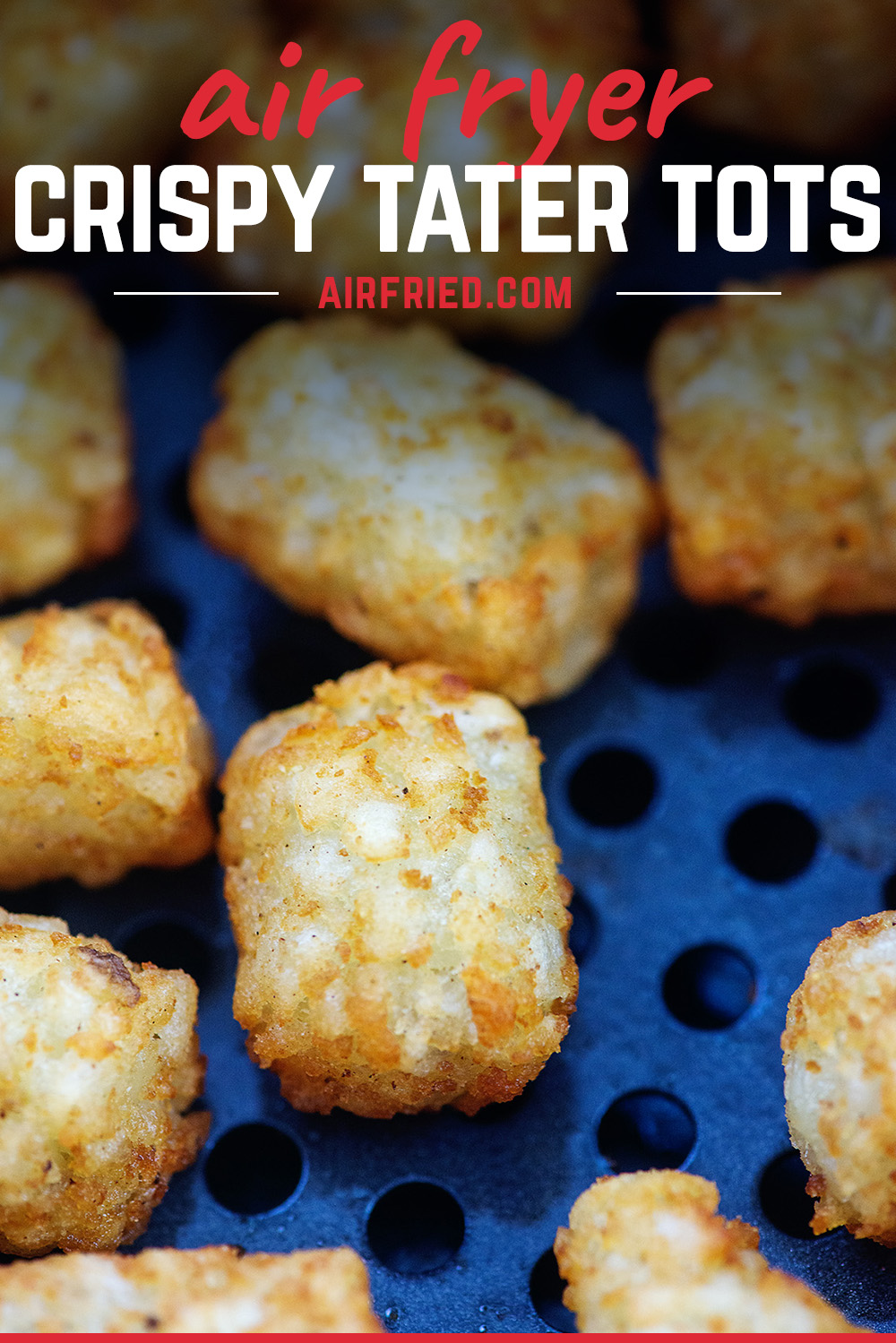 Easy air fryer recipe!! Tater tots turn out so crispy in no time! Plus check out the recipe for the tater tot dip! #airfryer #recipe #tatertots