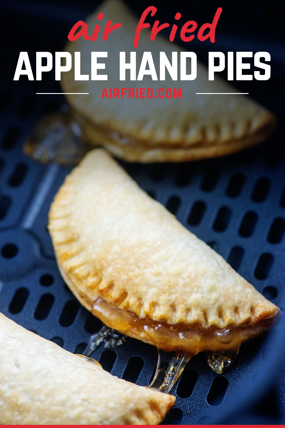 Fried apple pies are super easyy to make in the air fryer! #recipes #airfryer #applepie