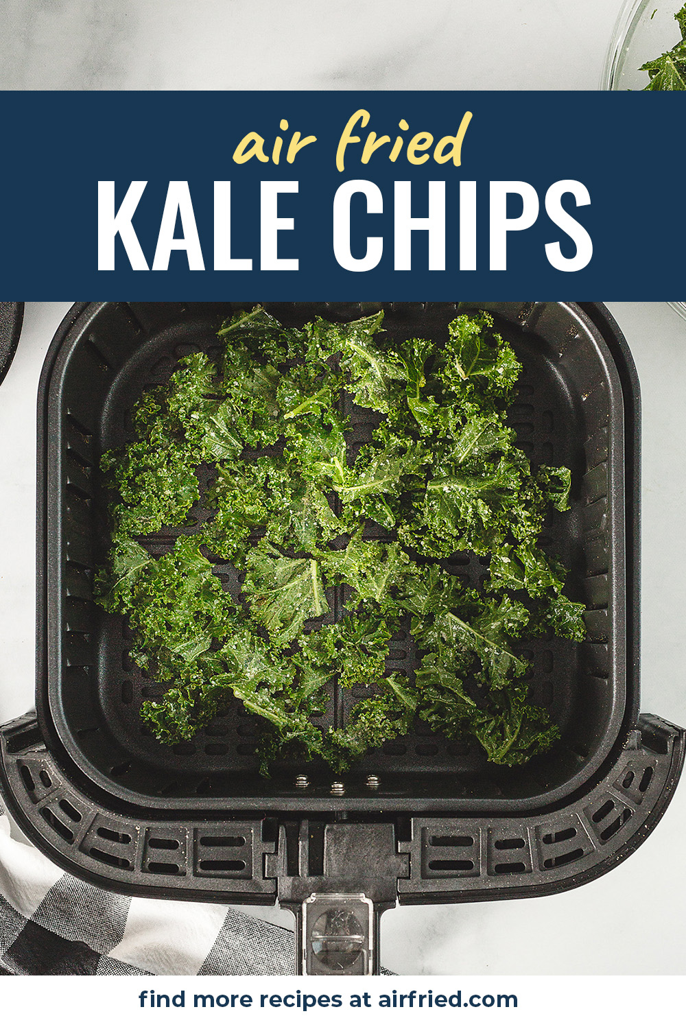 Kale is one of the healthiest food options and making them in an air fryer is my favorite way to eat it! #healthyrecipes #airfryer #snacks