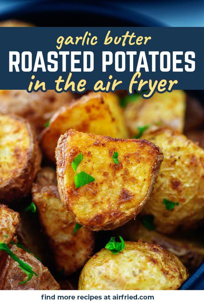 A close up of seasoned potatoes