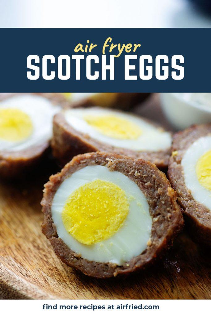keto scotch egg on cutting board