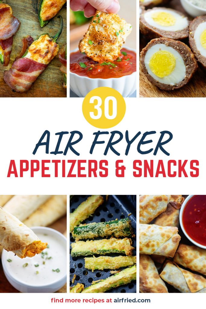 collage of air fryer recipe photos