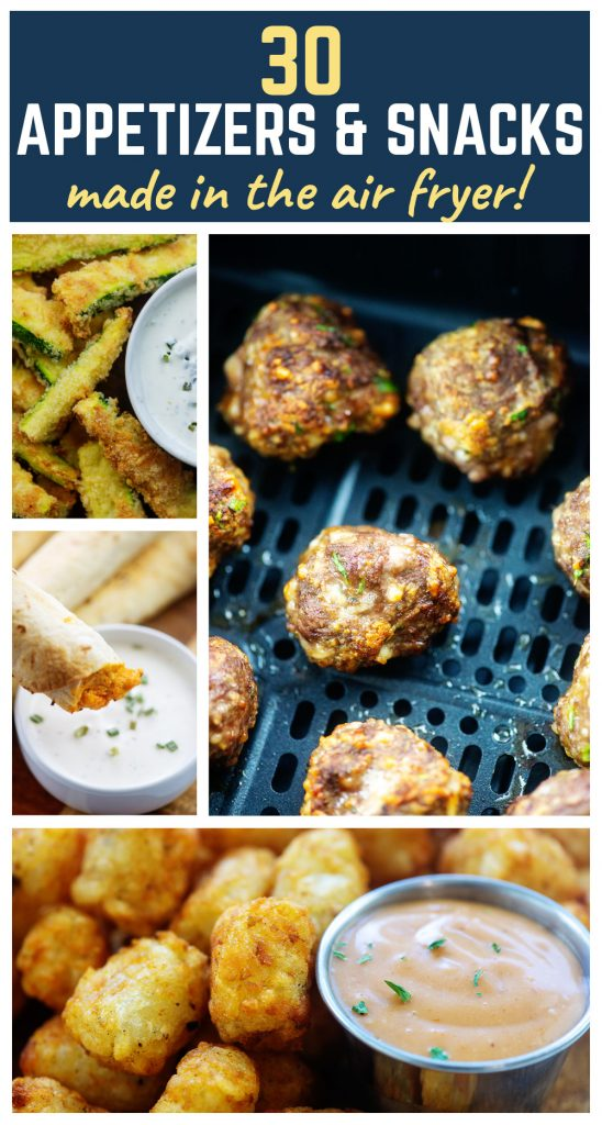 collage of appetizer photos.