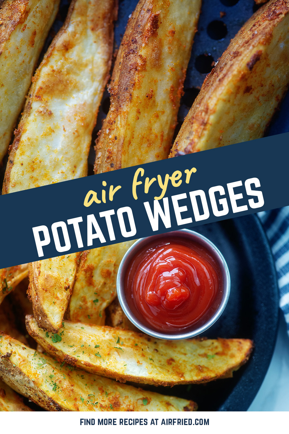 The air fryer makes your potato wedges crispy on the outside and soft on the inside! #recipes #airfried