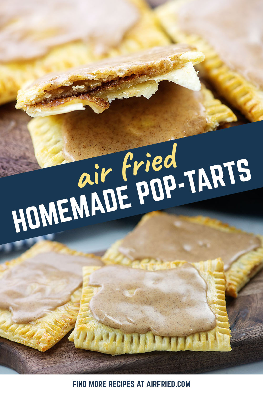 These sweet breakfast snacks are homemade and full of cinnamon and brown sugar! #breakfast #recipes #poptarts