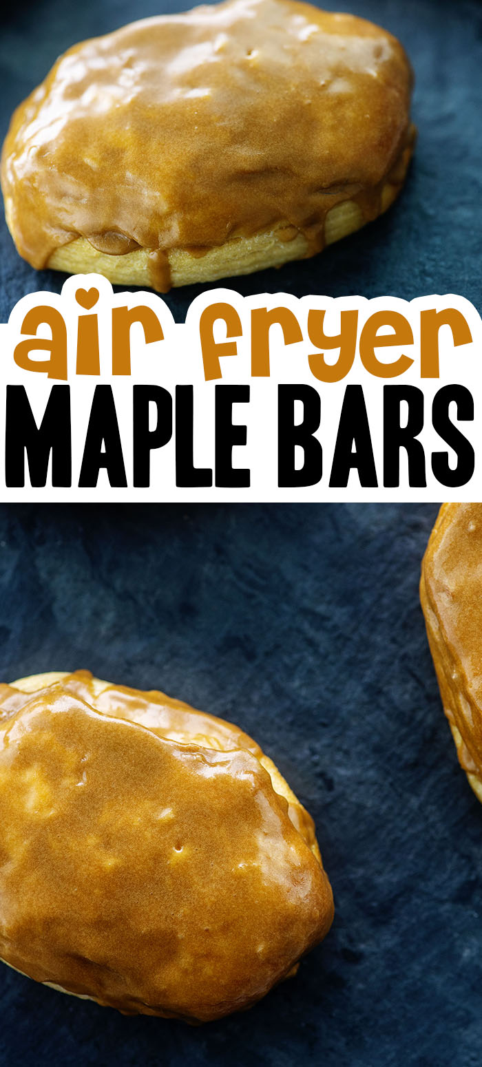 These maple donuts are made in the air fryer from canned biscuits! #airfyer #breakfast #recipes
