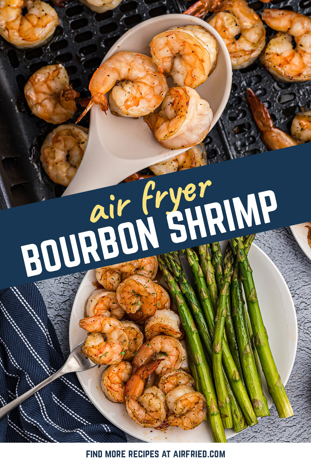 This shrimp recipe is elegant, delectable, and very easy to make in the air fryer! #airfried #recipes #seafood