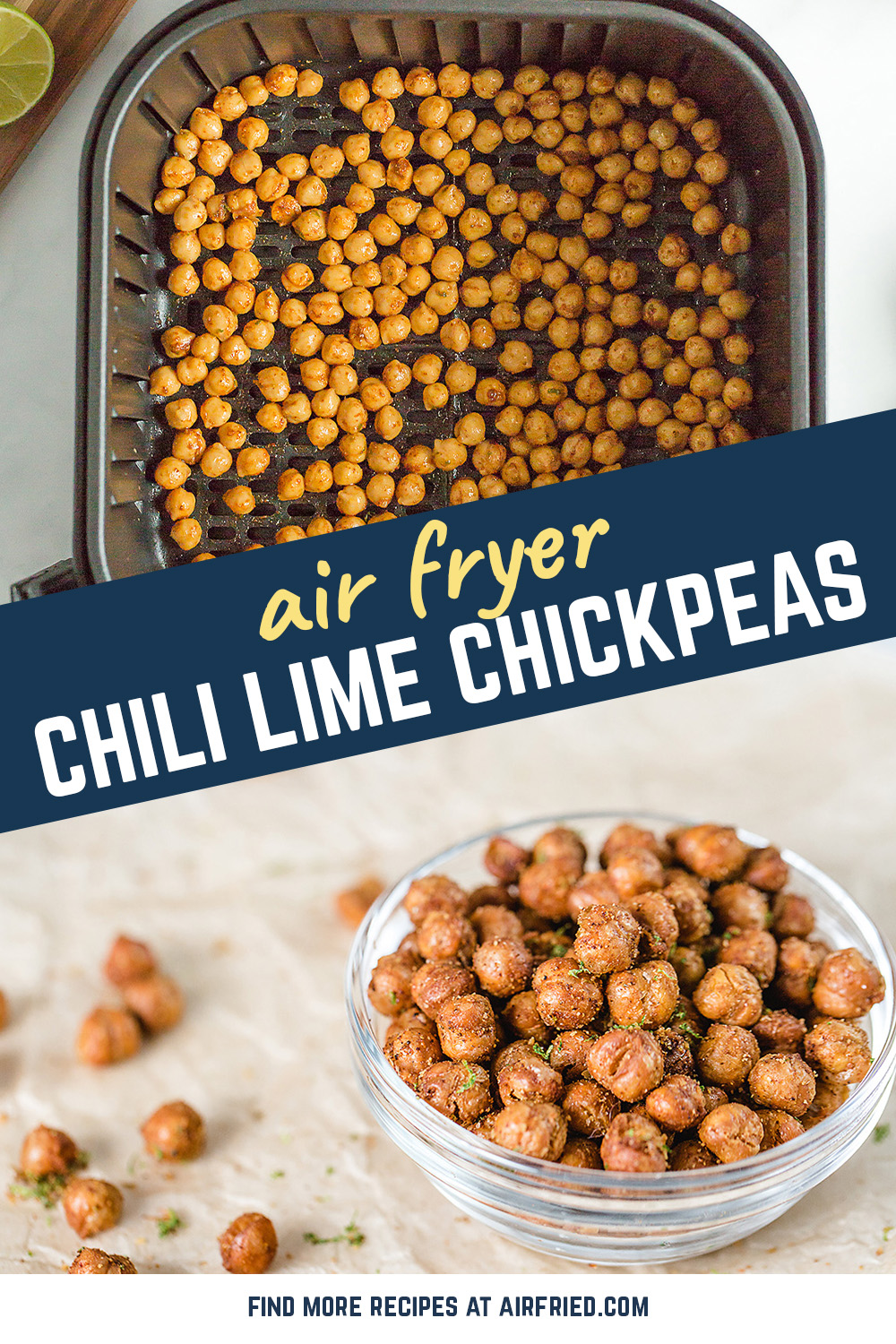 Garbanzo beans are a great, healthy snack for you and your family.  They are full of nutrients and taste fantastic! #airfryer #chickpeas #healthysnacks