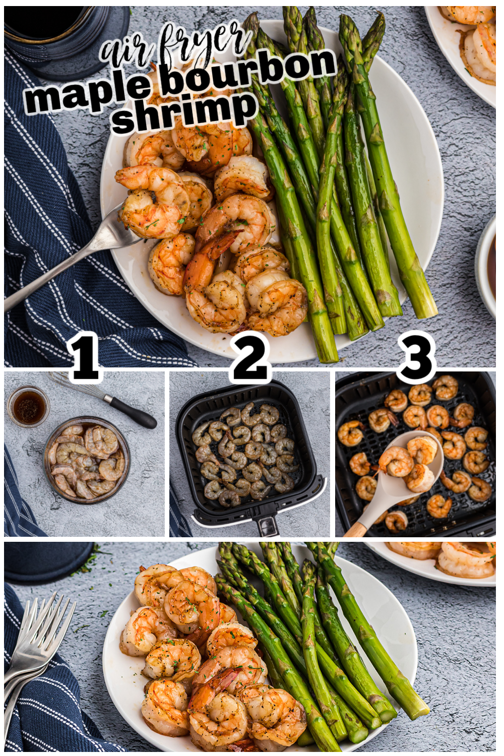 This shrimp is easy to make but comes with a very elegant taste! #airfryer #shrimp #recipes