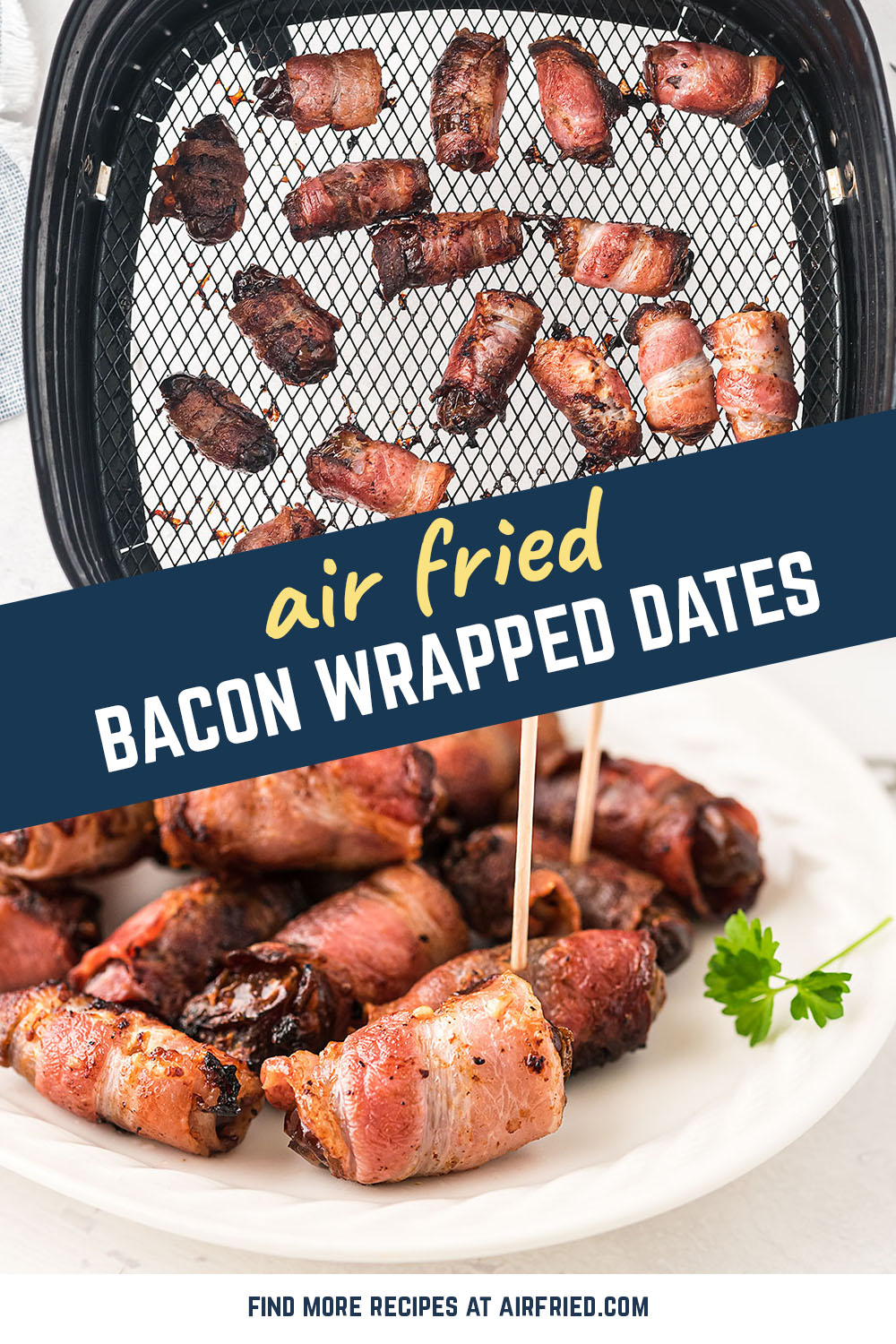 This is a very simple recipe for a nice, unique appetizer.  Wonderful for a date night! #airfryer #dates #bacon