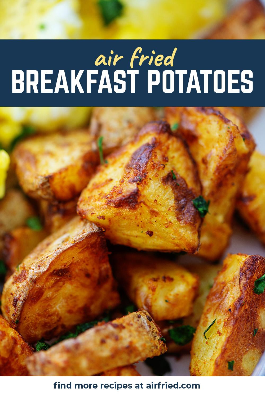 A close up of seasoned breakfast potatoes.
