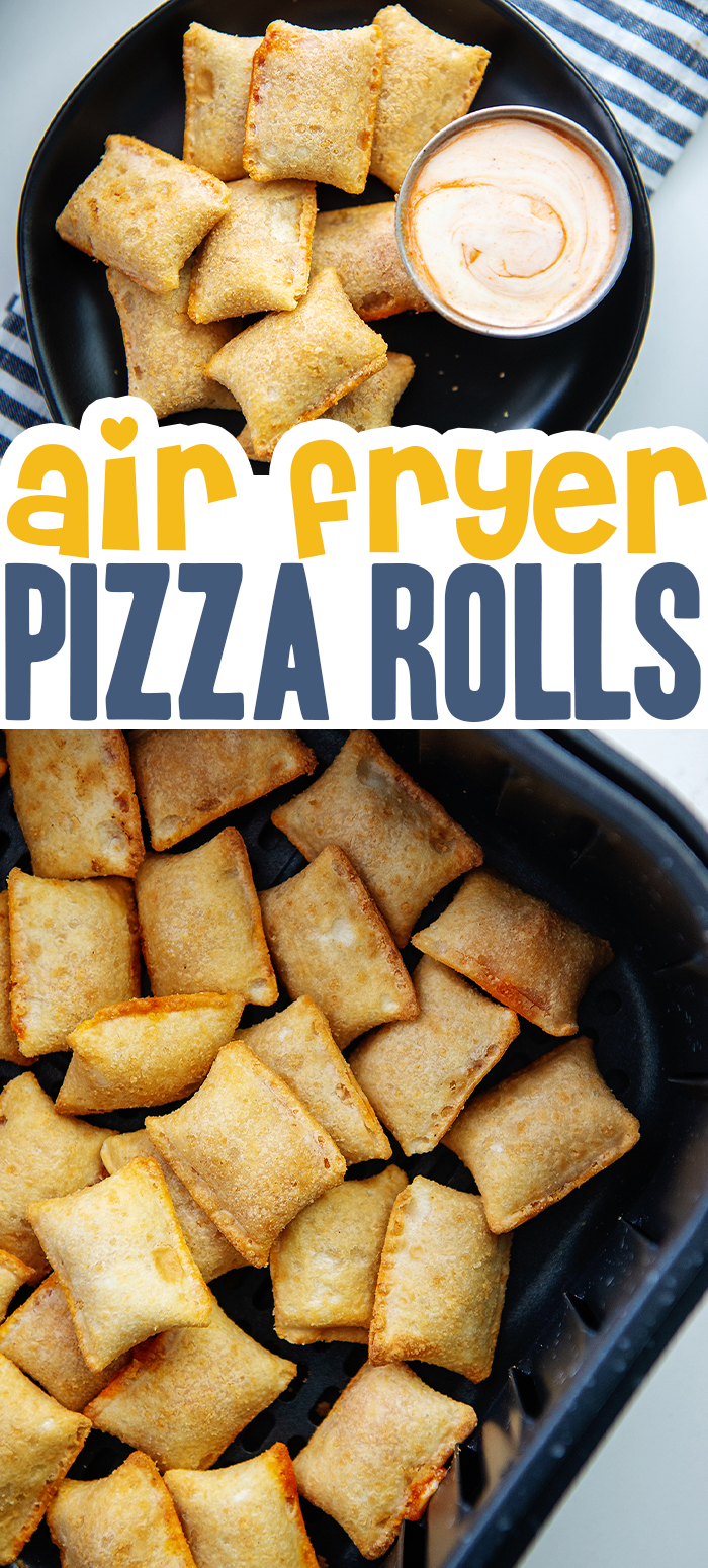 Pizza rolls are fast and delicious when cooked in the air fryer!  #airfried #frozenpizzarolls #easyrecipes