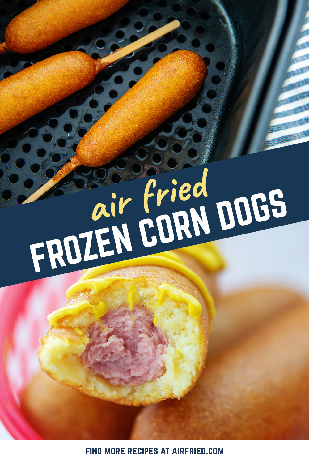 These air fryer corn dogs make a quick lunch that the kids love!