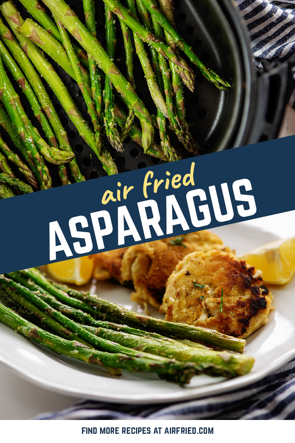 Try out these air fried asparagus for a healthy snack or side dish!  #Garlicparmesan #ketosidedishes #recipes