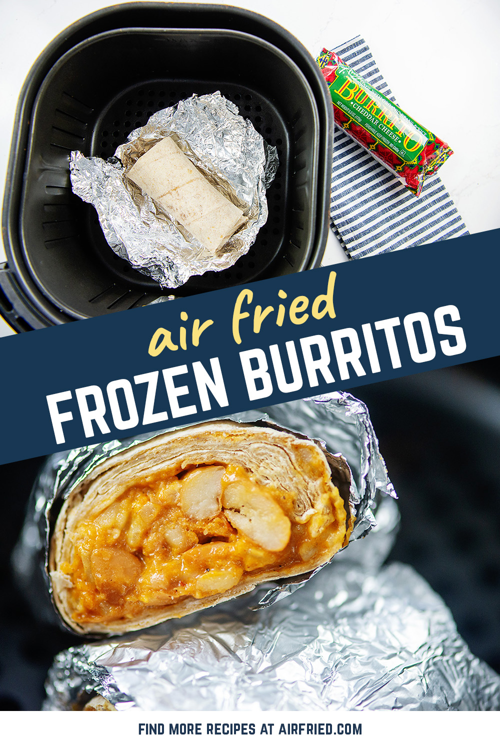 Frozen burritos are so easy in the air fryer! Two methods for cooking them and both are better than the microwave!