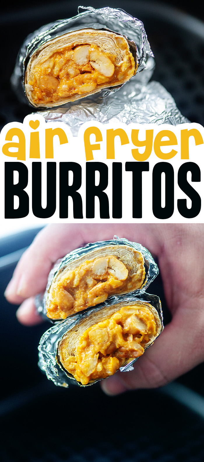 Cooking frozen burritos in the air fryer is so easy and they taste so much better than the microwave!