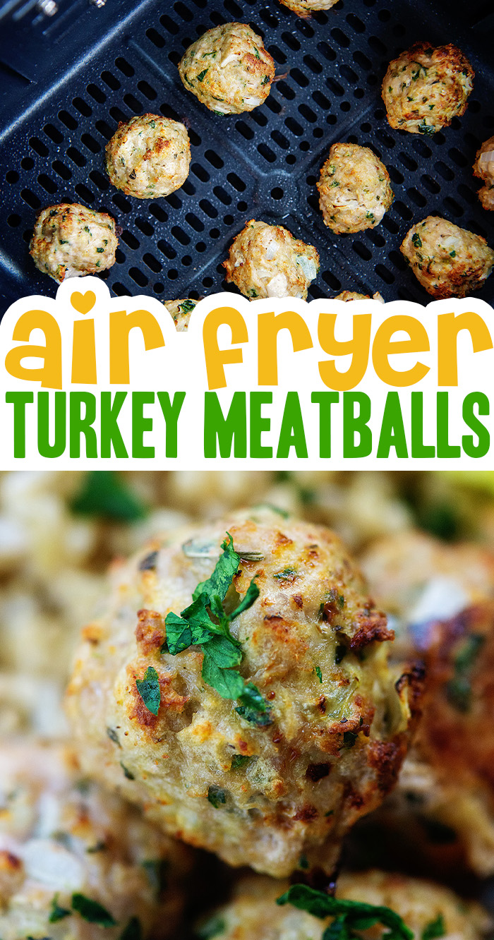 Turkey meatballs in the air fryer stay together well, are easy to make, and taste fantastic!