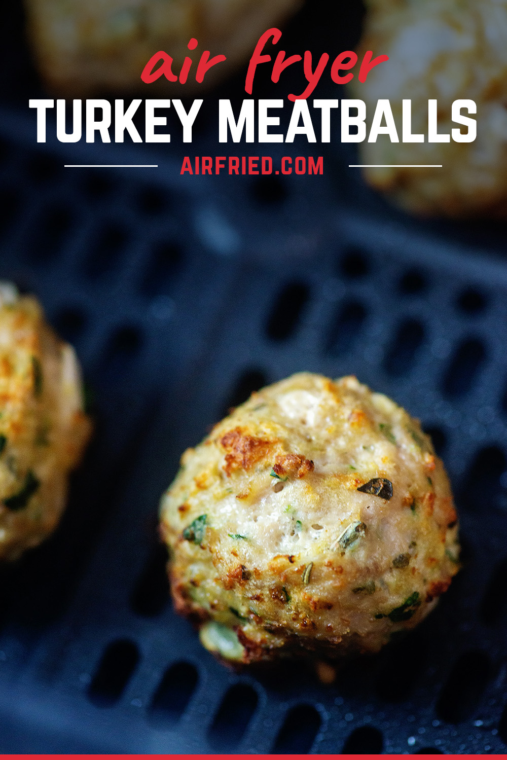 Air fryer turkey meatballs are simple, fast, and perfect for quick meal or appetizers!