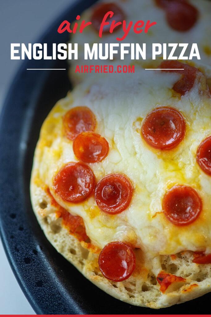 Close up of a mini pepperoni pizza