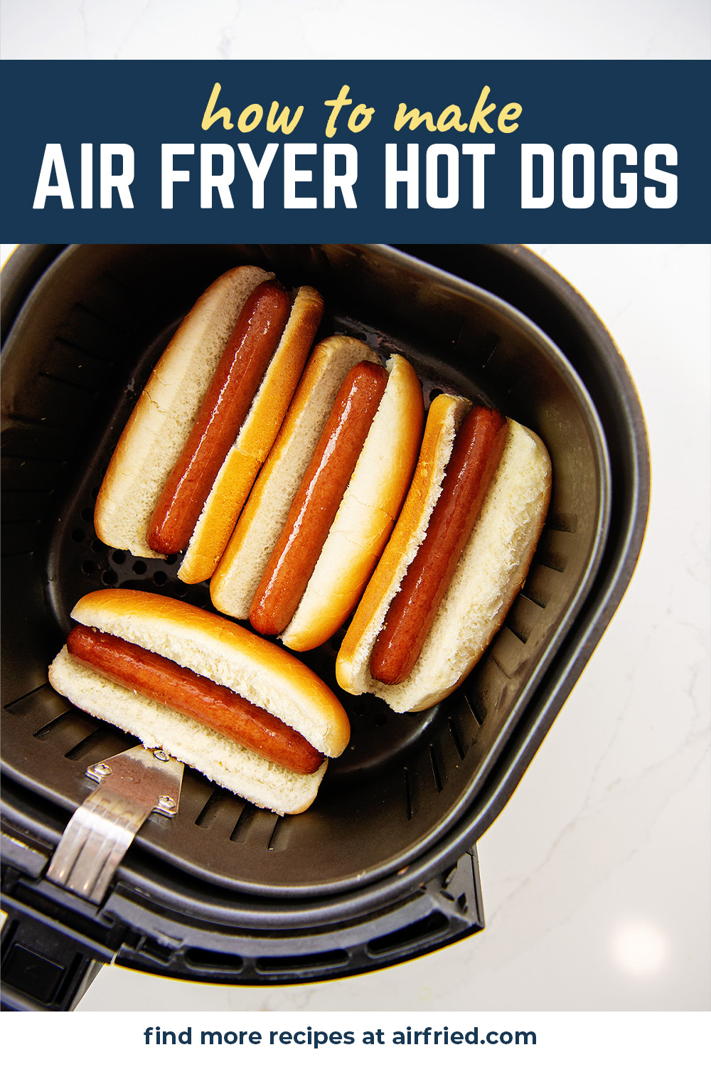 Try hot dogs in an air fryer to make a super easy lunch that is absolutely yummy! #airfried #hotdogsrecipes #easylunch