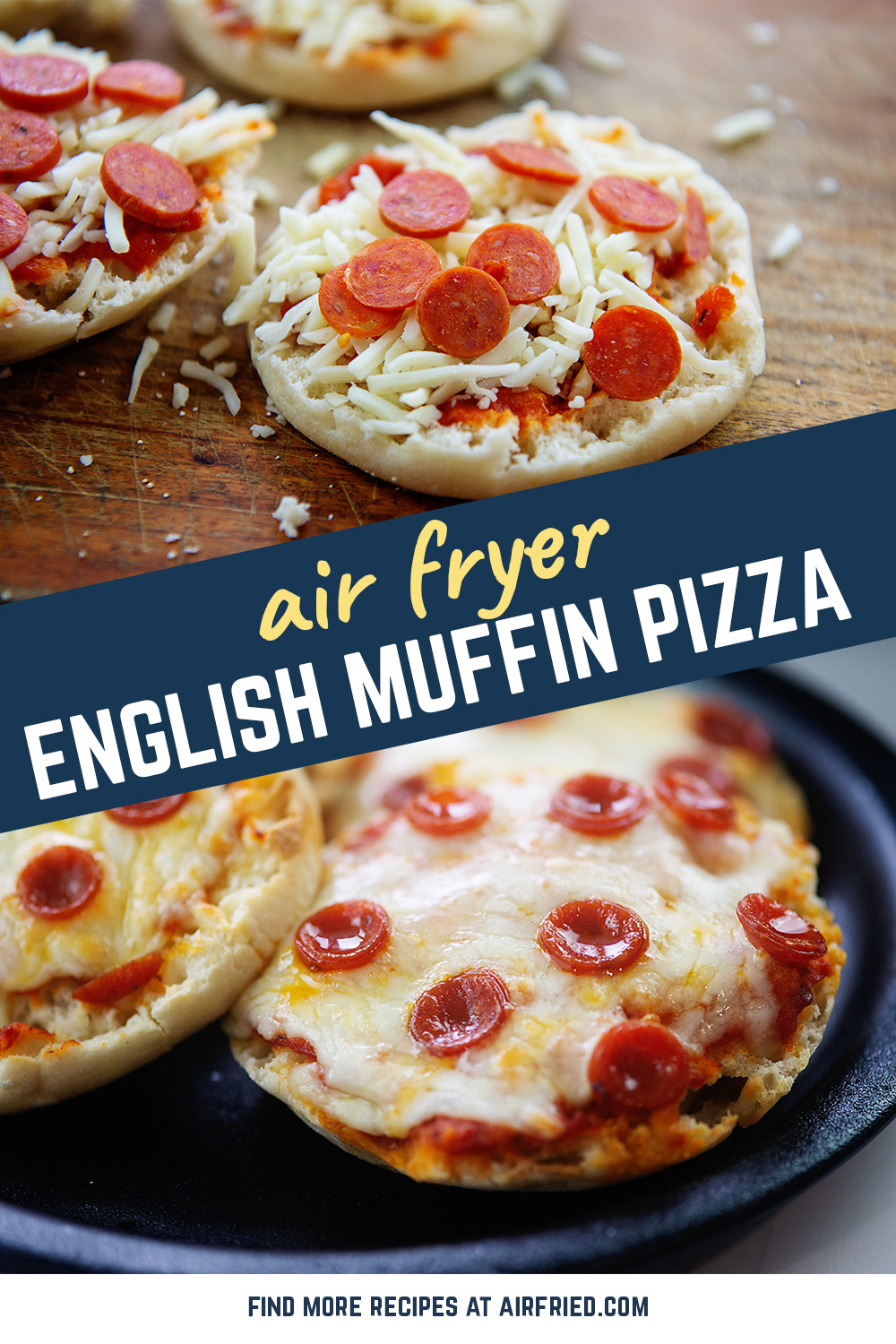 Simple and personal-sized, these English muffin pizzas are a wonderful lunch!