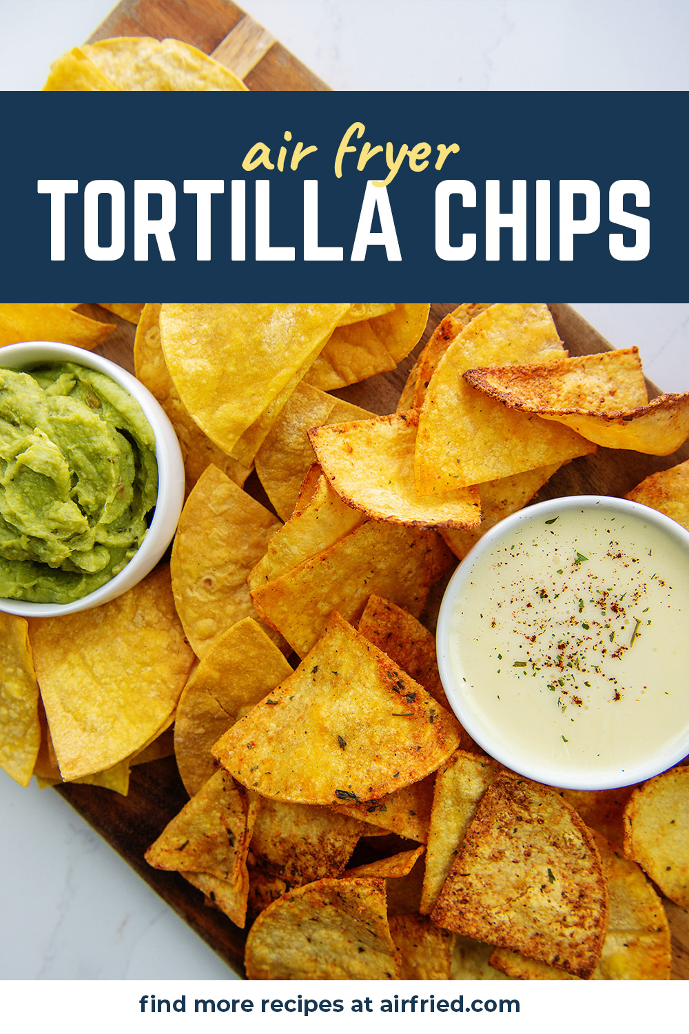 Homemade tortilla chips are easy to make and can be made with a variety of flavors! #airfryer #homemadedoritos #recipes