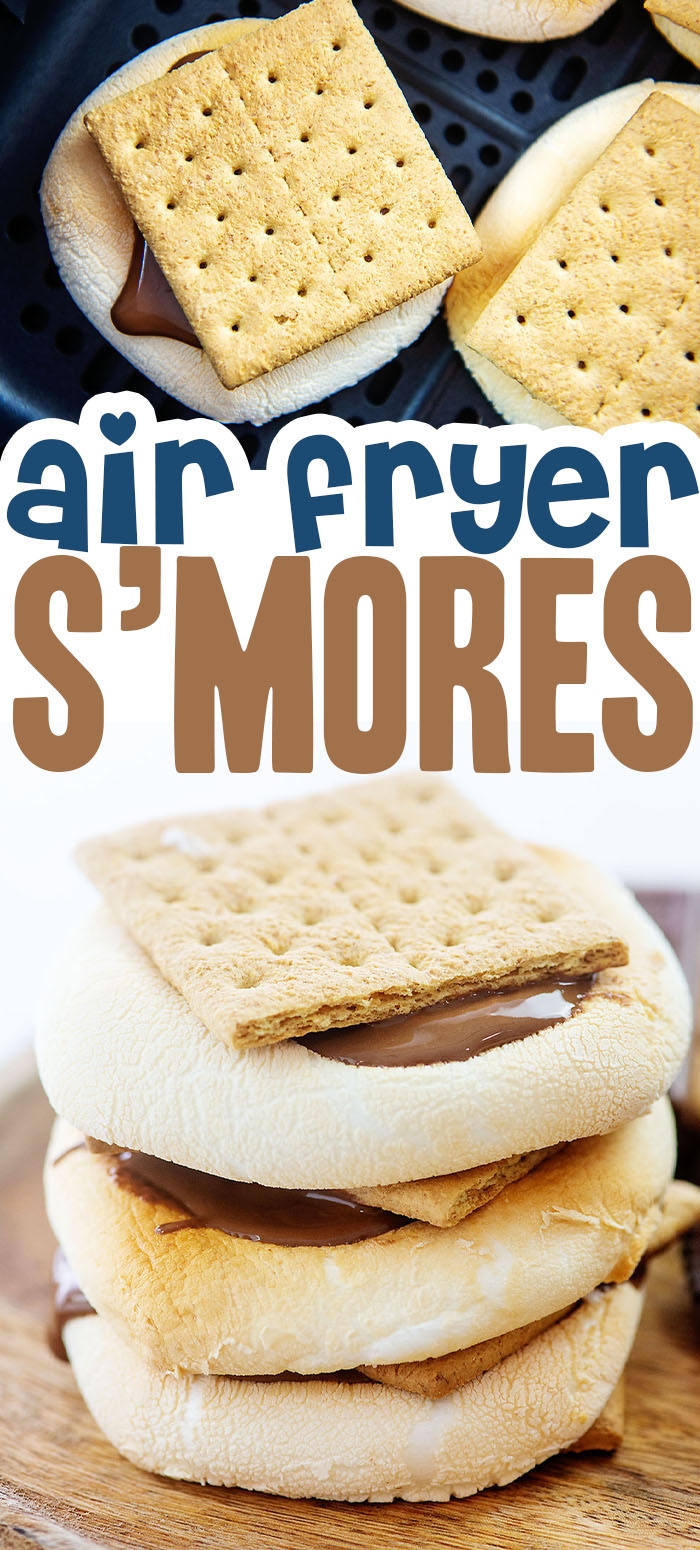 These indoor smores were cooked in the air fryer for the most magnificent dessert ever!