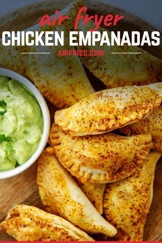 Close up of seasoned empanadas