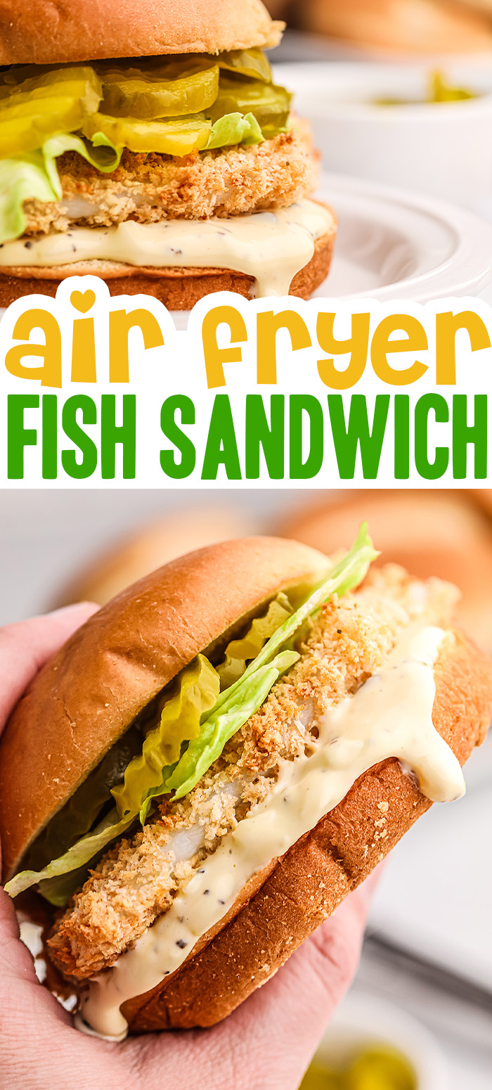 This fish sandwich is made with an fantastic homemade tartar sauce!