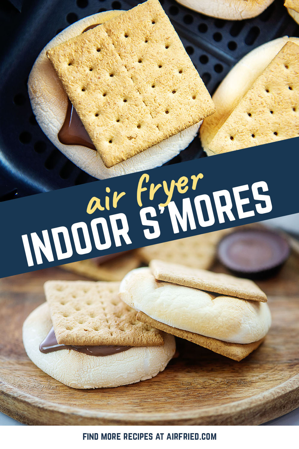 Perfectly toasted marshmallows come straight from your air fryer with these indoor s'mores! Who needs a campfire anyway?