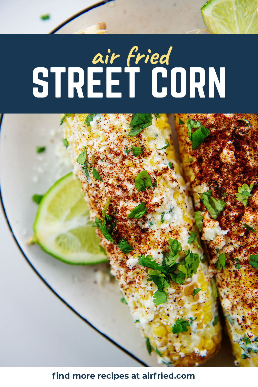 This recipe is a Mexican inspired corn on the cob that is coated in a delicious sauce.
