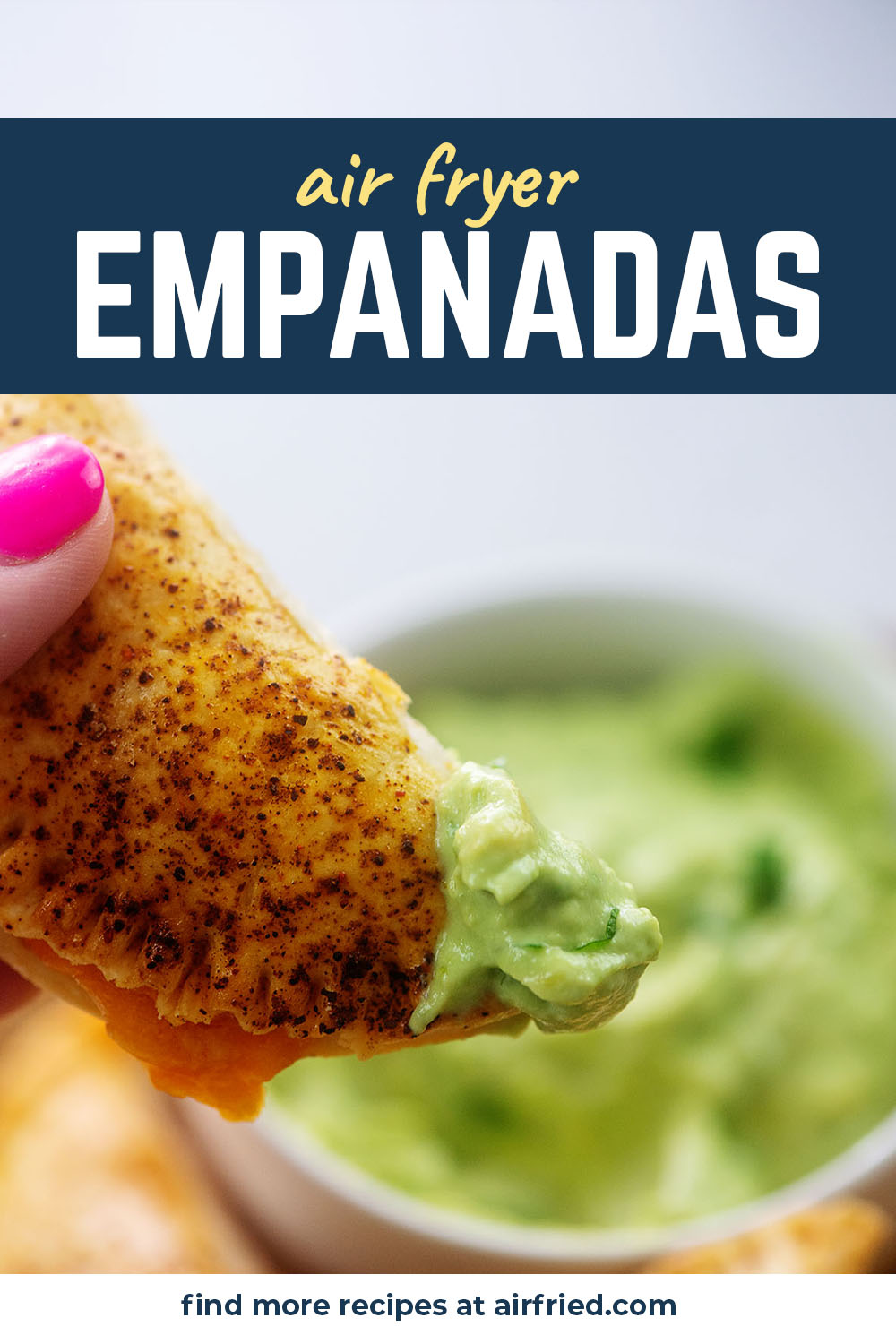Our air fried empanadas are packed with chicken and cheese!