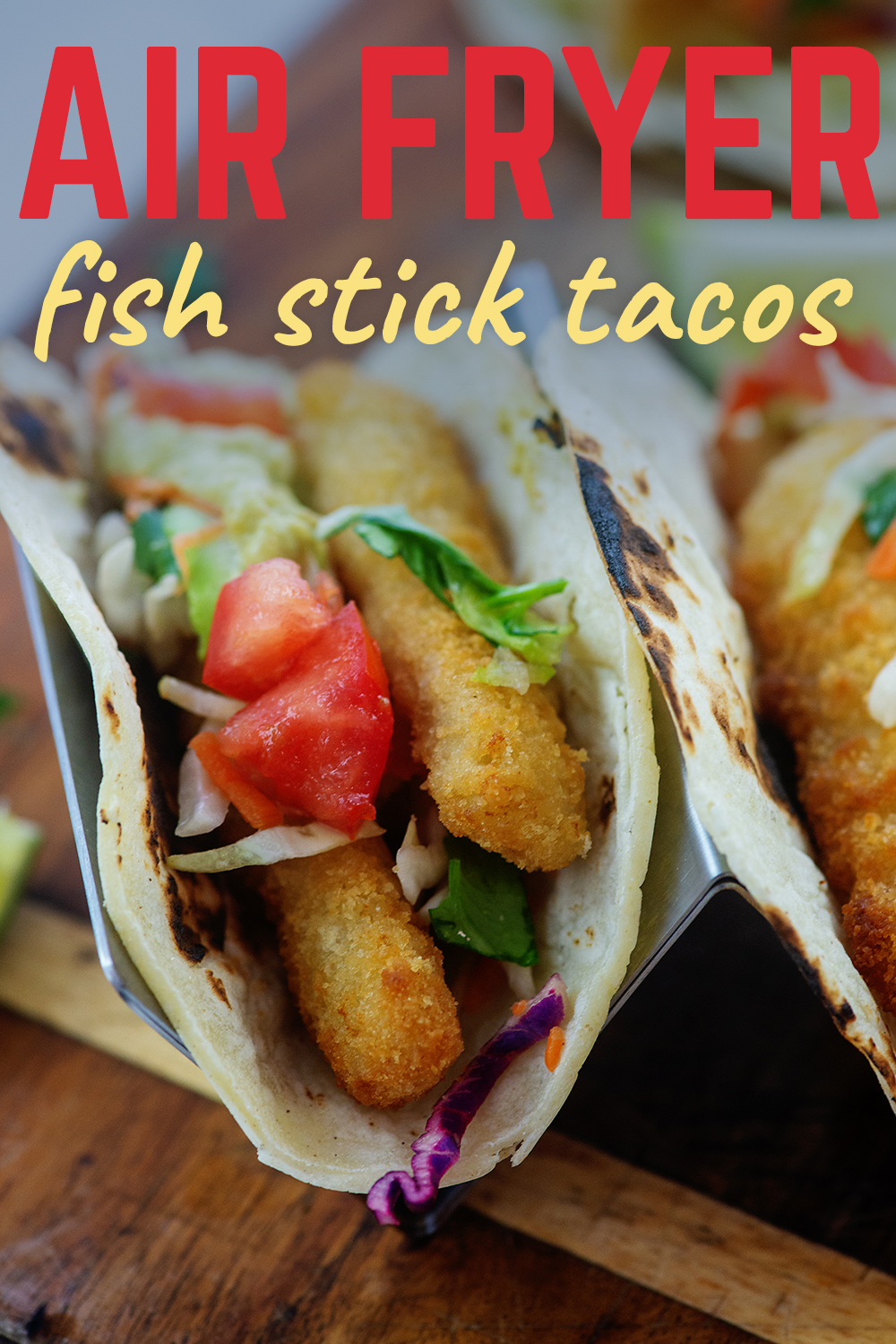 These fish tacos are topped with a lovely cilantro lime slaw.  A perfect pairing for the crispy fish!