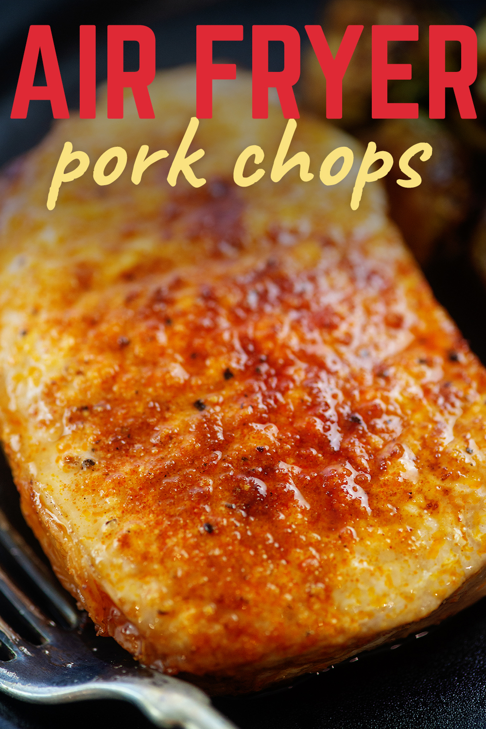 This recipe will make a tender, juicy pork chop in the air fryer!
