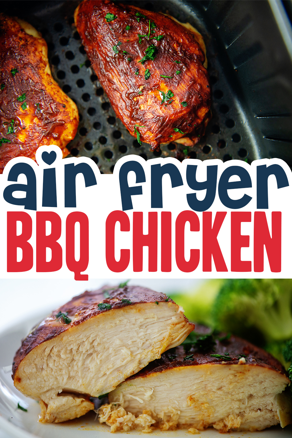 This bbq chicken turned out great from our air fryer.  Try out this recipe for an easy midweek dinner.