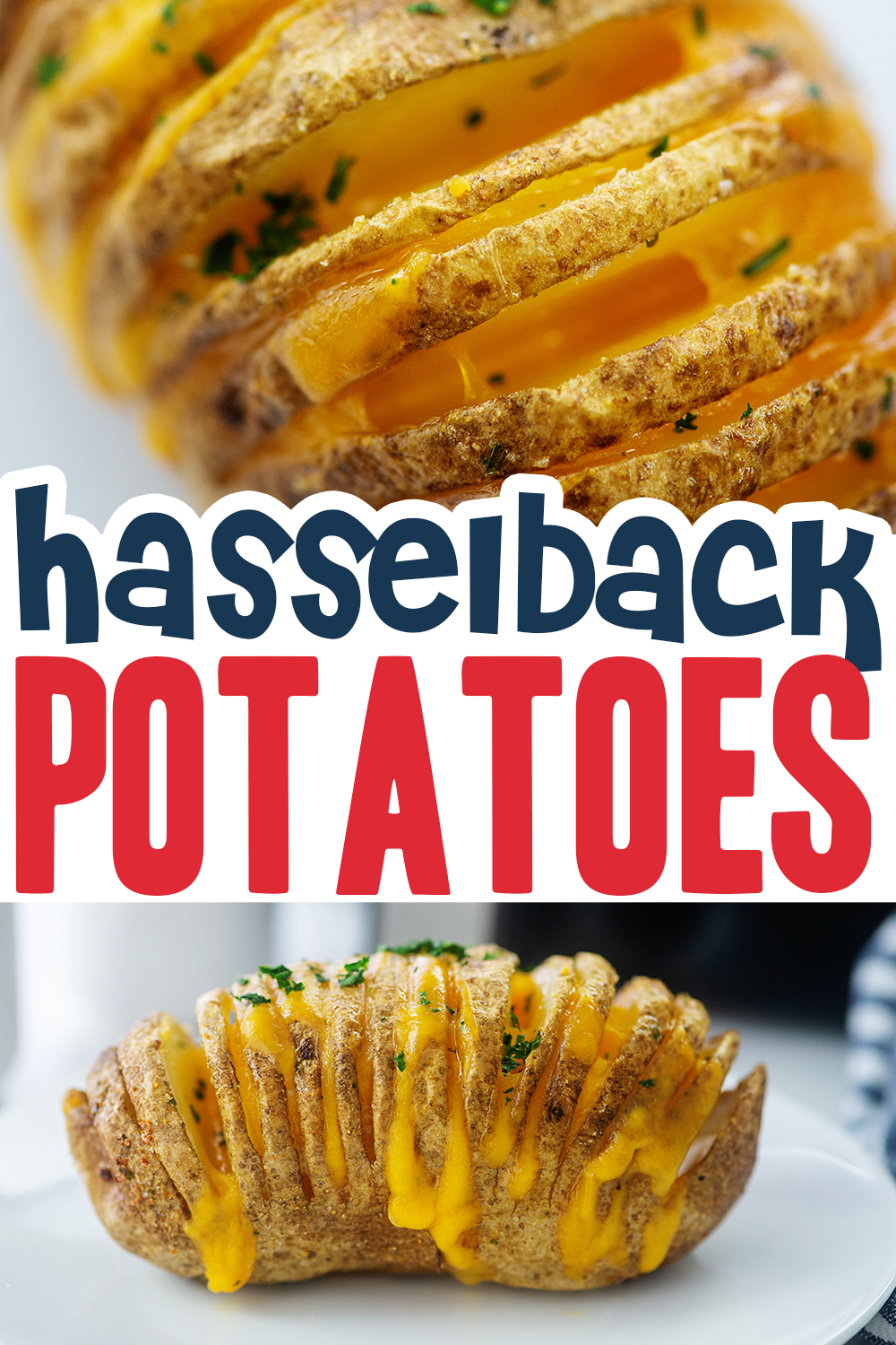 These are easy-to-make Hasselback potatoes that have a cheesy filling.  This is a side dish worth making!