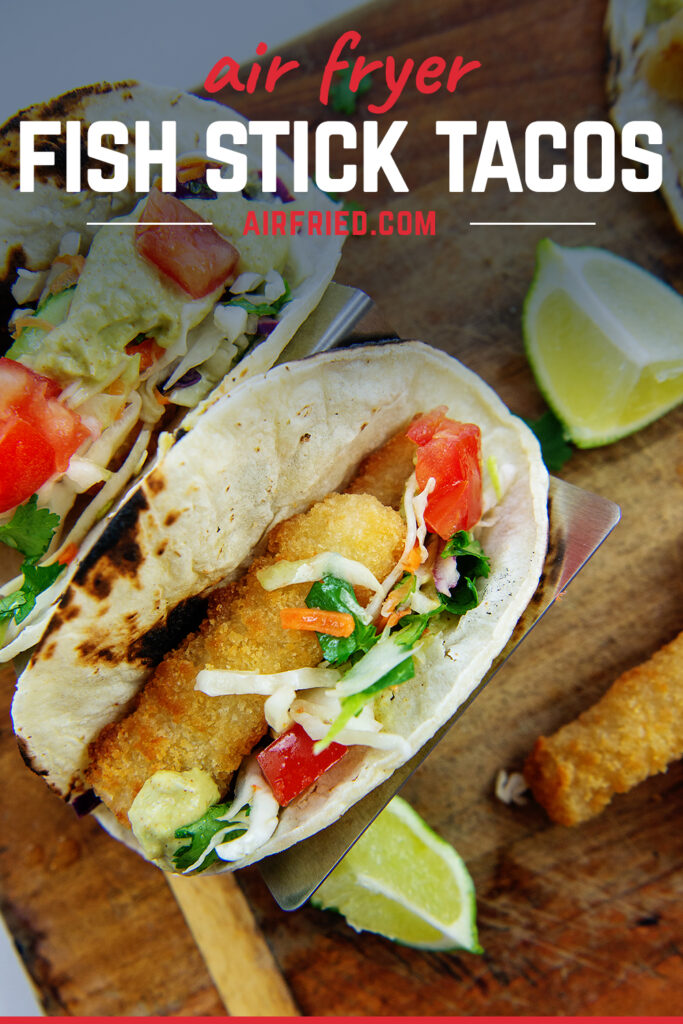 Overhead view of fish tacos