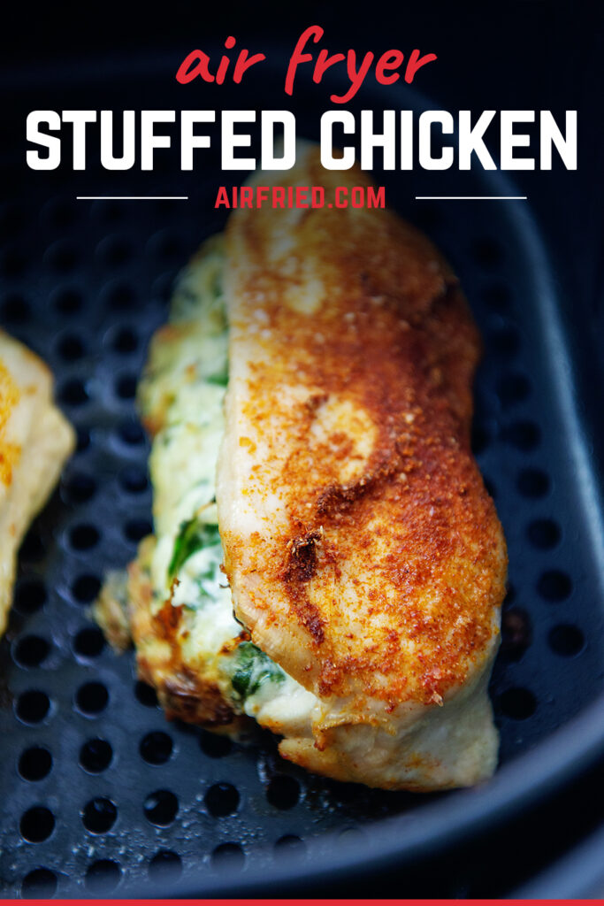 Close up of stuffed chicken cooking