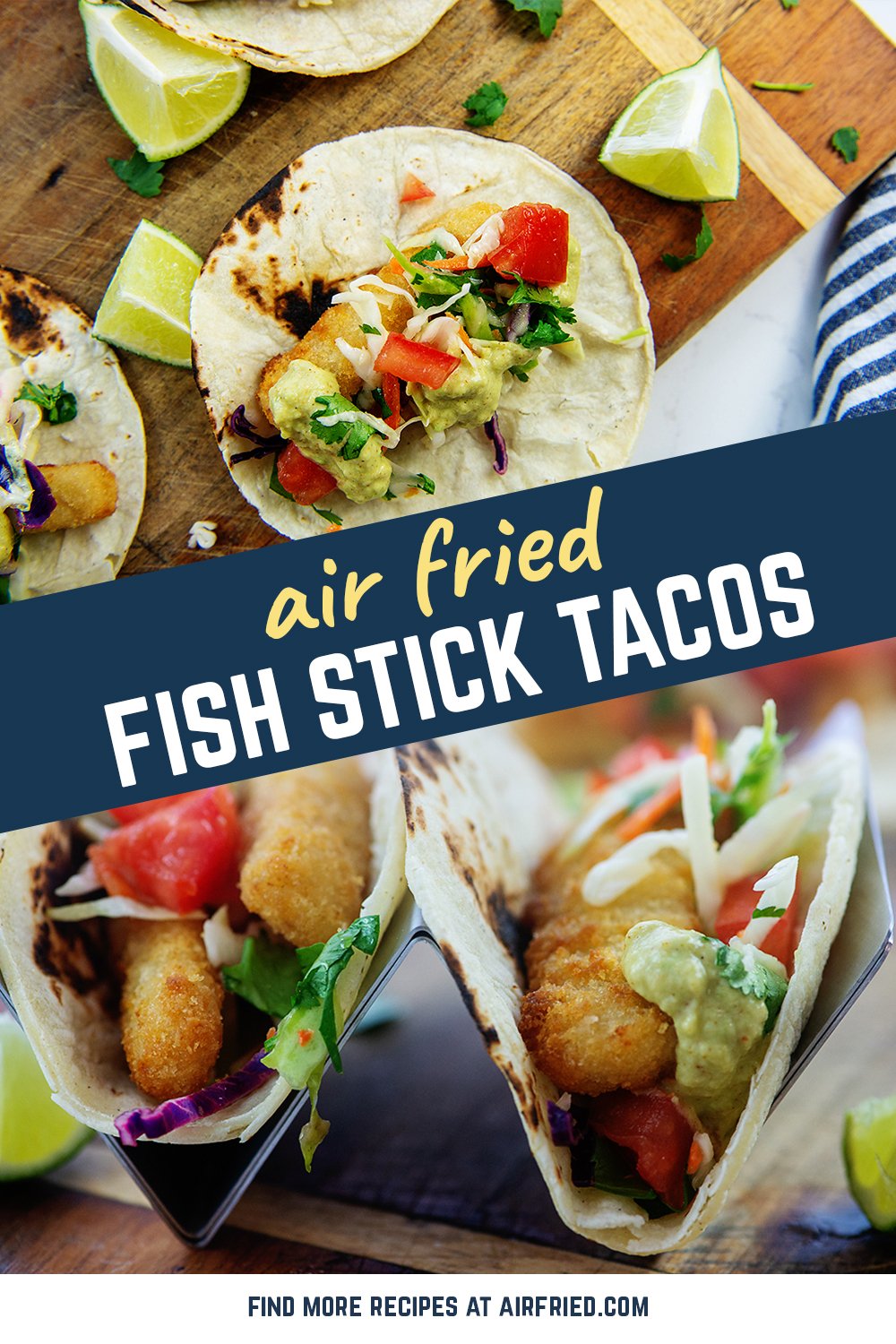 These fish stick tacos are so good and so easy to make they will become a family favorite go-to meal.  I am sure of it!