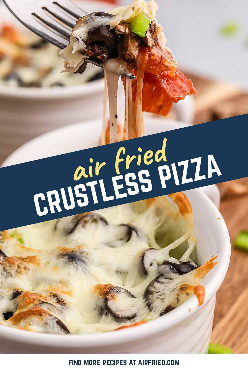 This recipe for a crustless pizza is exactly what I needed for my keto friendly meal plan!