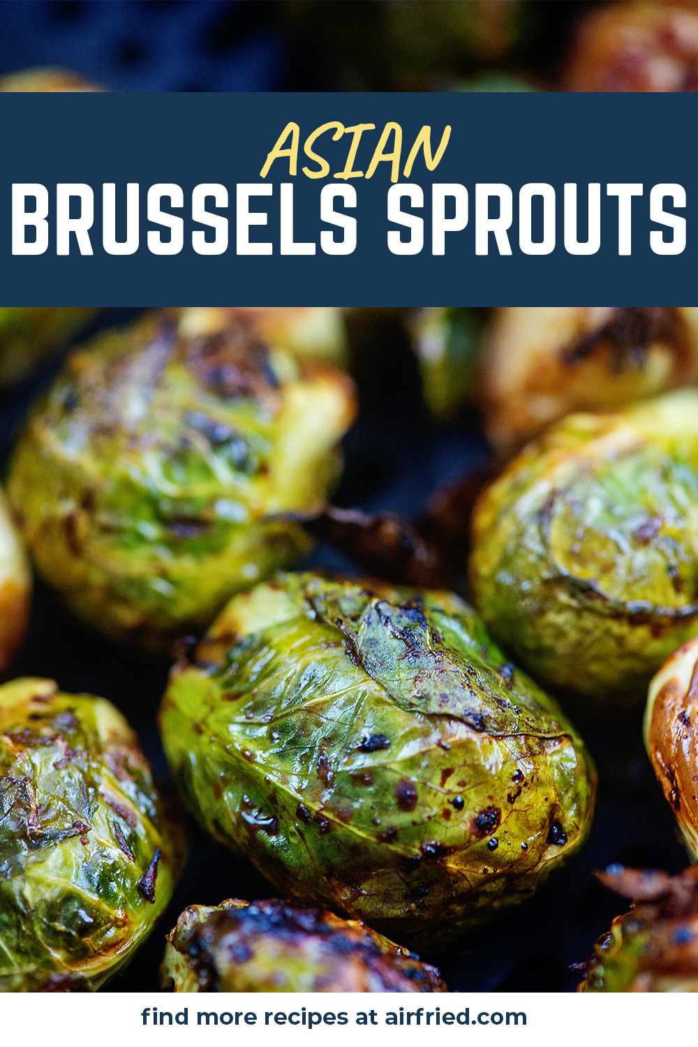 These air fried brussels sprouts are seasoned with honey, garlic and a few other Asian inspired flavors!