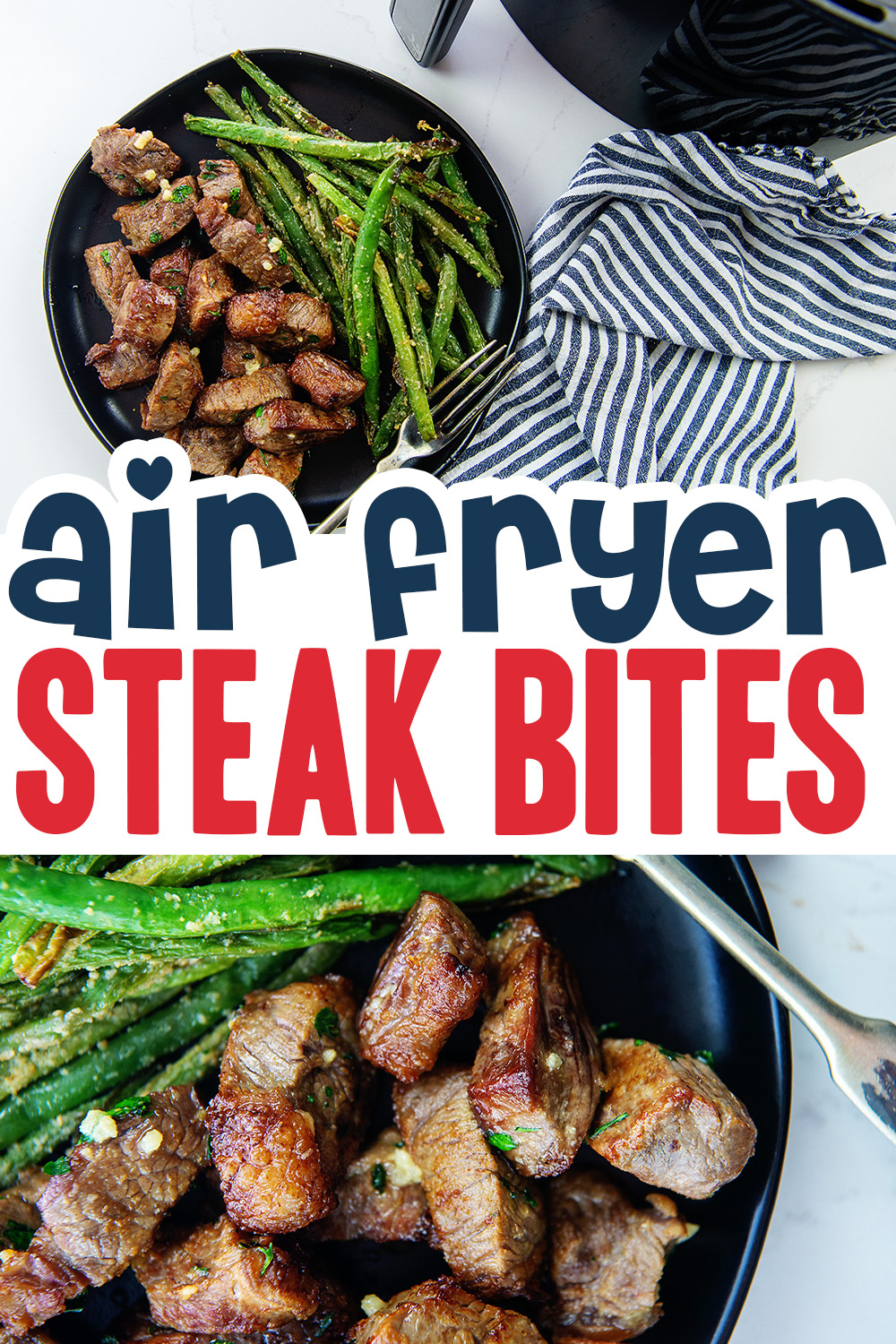 It is easy to cook your steak bites evenly in the air fryer!  The consistency of the meat and the texture of the steak is fantastic!