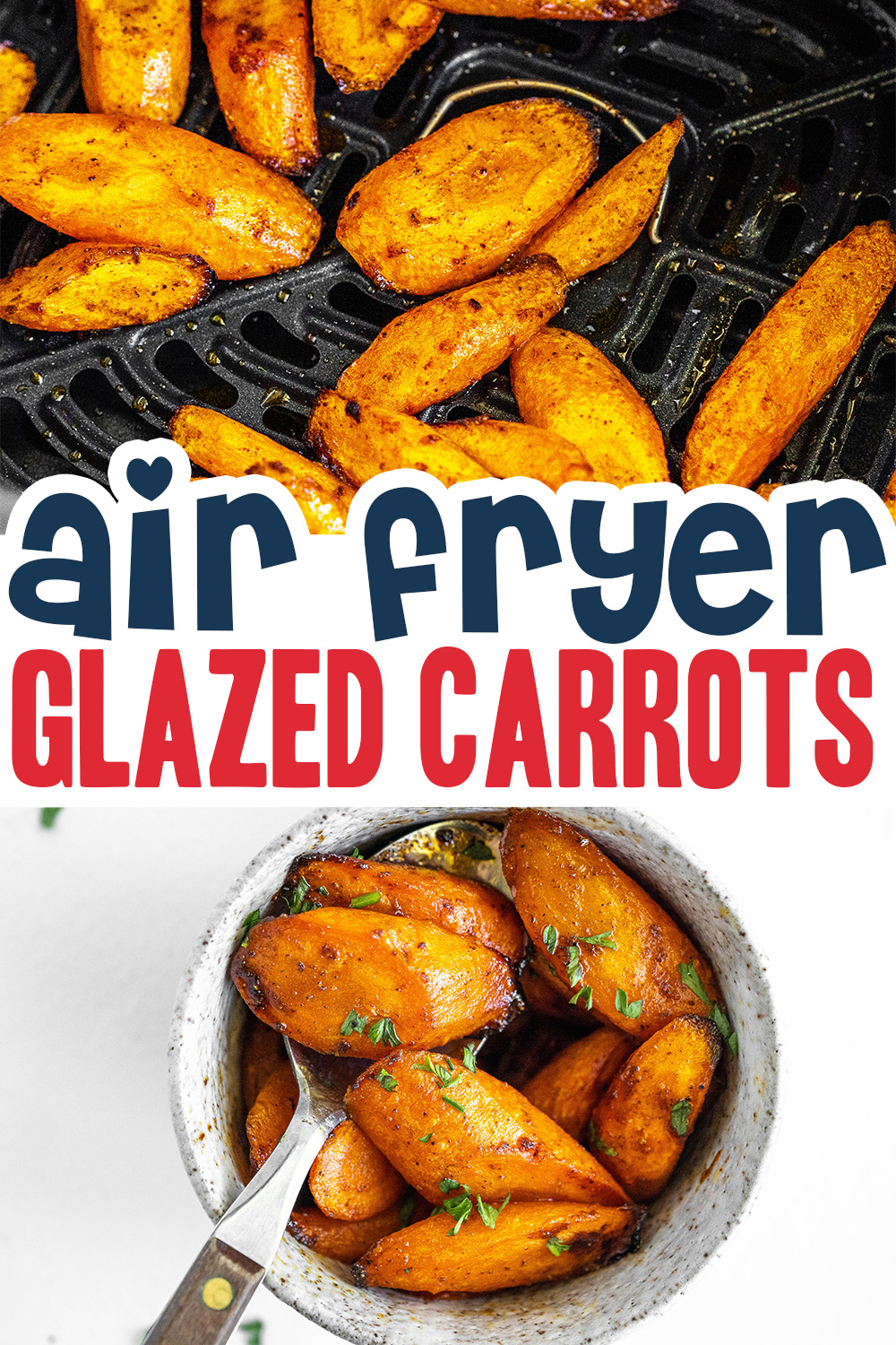These carrots are coated in a spicy honey glaze for a wonderful blend of sweetness and spice!