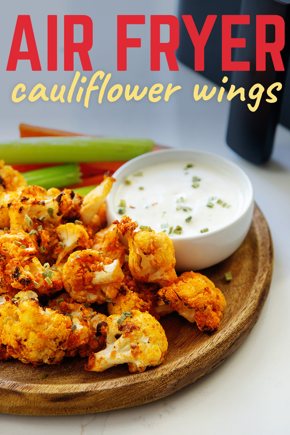 Try out these cauliflower wings in ranch or blue cheese for a great appetizer or even an entire dinner!