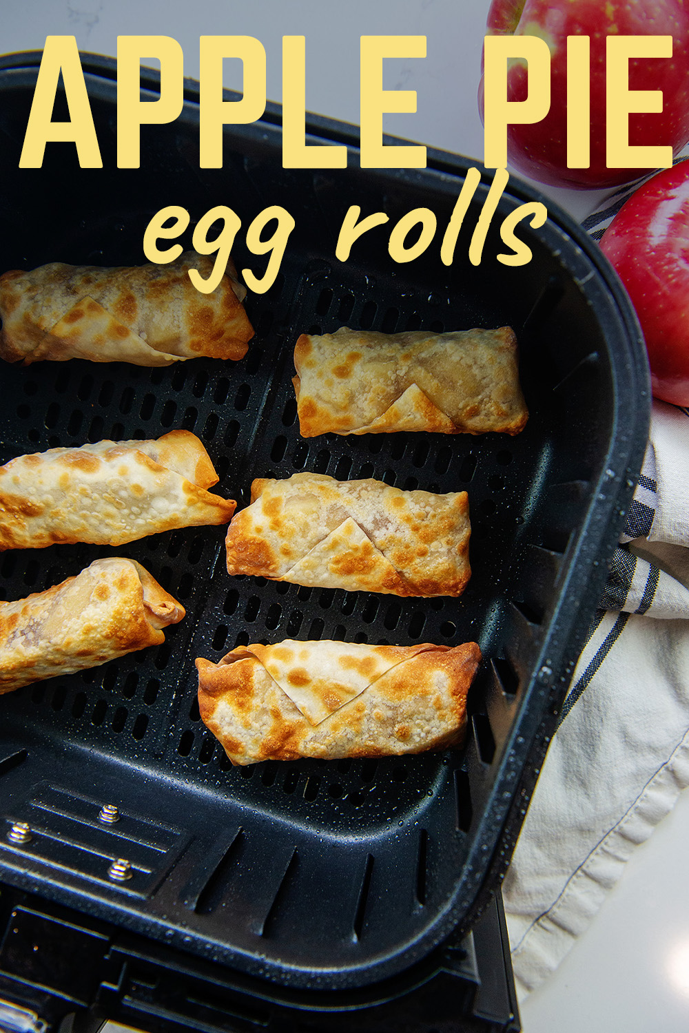 This apple pie egg roll recipe is a little spin on hand pies.  They are fantastic dipped in a bit of caramel.  You have to try these!