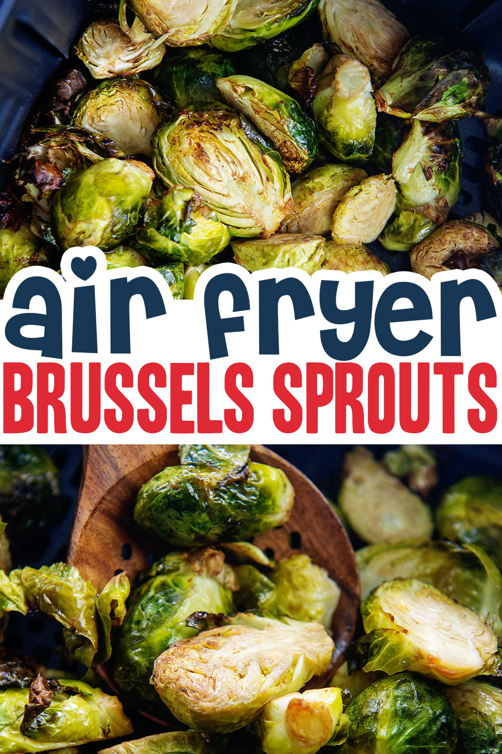 Chedk out these air fried brussels sprouts for a healthy side dish!
