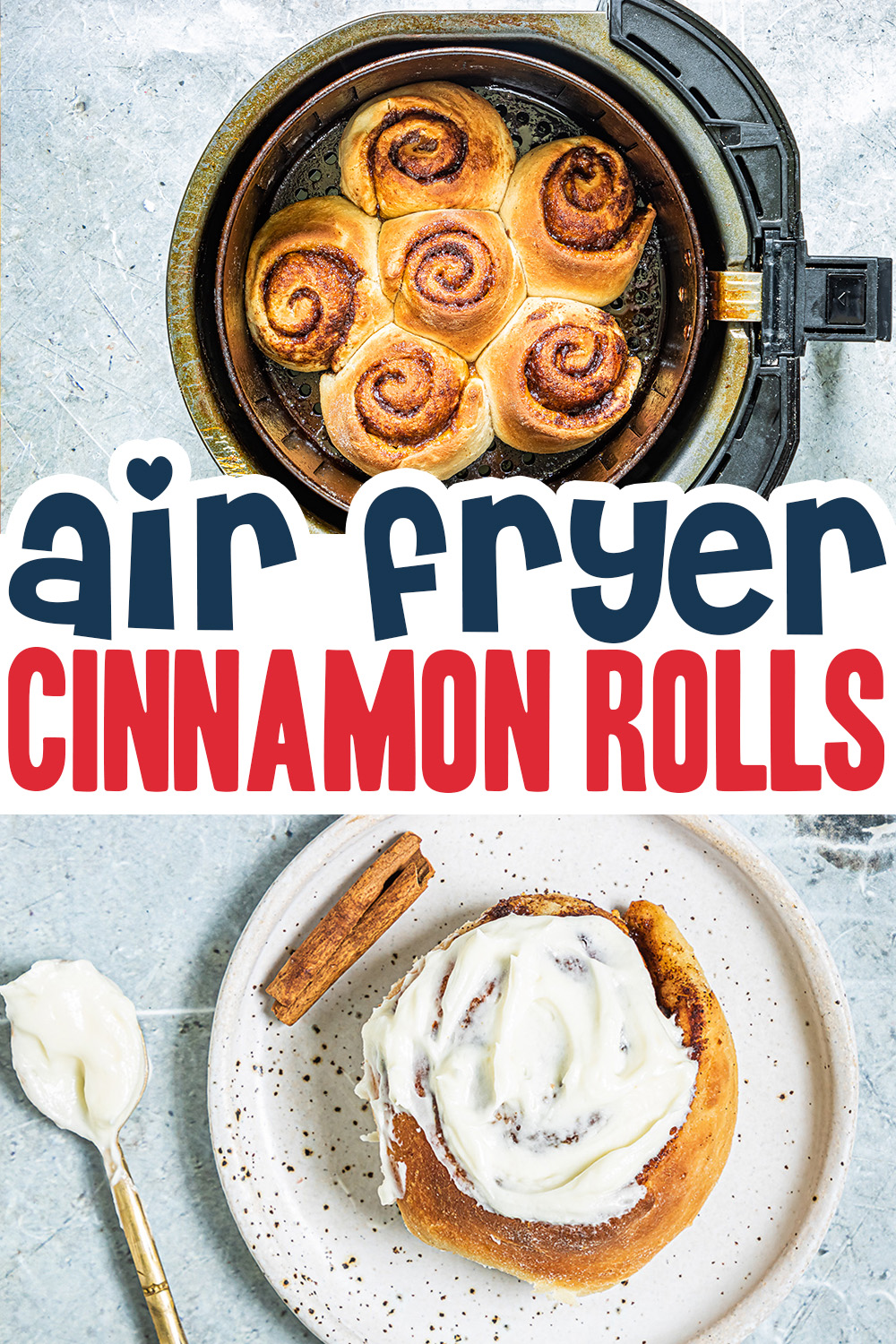Try this air fryer cinnamon roll recipe for a perfectly cooked cinnamon roll!